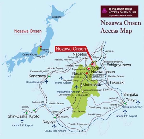 Nozawa Onsen Access Map