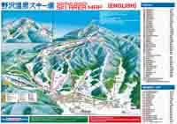 Nozawa Onsen Trail map